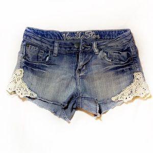 Vanilla Star Crochet Jean Shorts